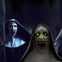 Special Edition: The Nun Mask with Glowing LED Eyes and Scary Audio Horror Voice Sounds Conjuring Valak Cosplay Mask-Horror Theme-WickyDeez