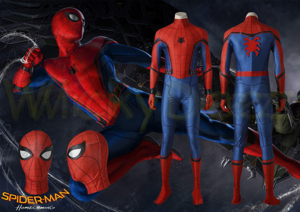 Spider-Man Homecoming Peter Parker Superhero Complete Cosplay Costume-Marvel Comics Cosplay-WickyDeez