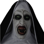 The Nun Full Head Cosplay Horror Movie Mask Valak Conjuring Scary Halloween - WickyDeez