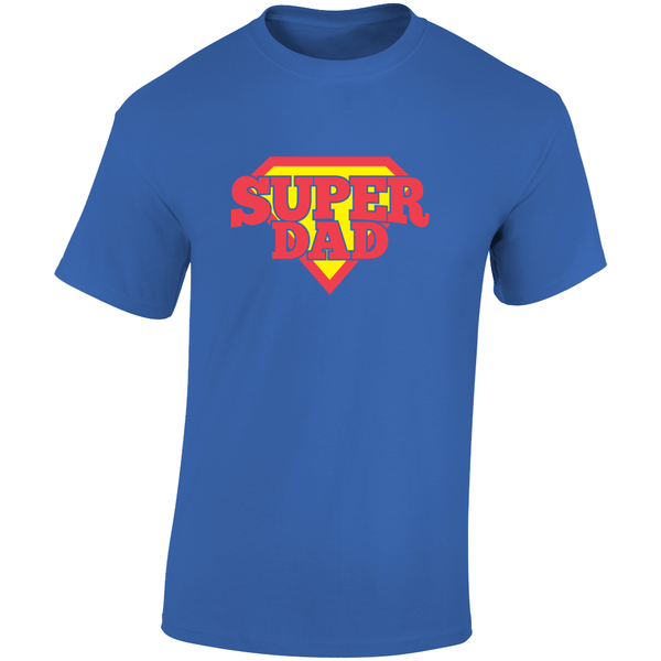 Super Dad Fathers Day Gift Tee Top T Shirt - WickyDeez