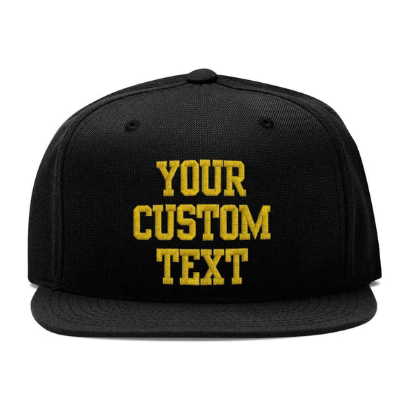 Custom Embroidery Snapback Hat | Add Your Own Text
