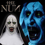 NEW 2018 The Nun Full Head Horror Movie Mask Cosplay The Conjuring Valak Horror Prop Face Costume Mask (Alternate Version)-Horror Theme-WickyDeez