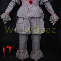 Stephen King's It Pennywise Full Cosplay Costume Halloween Suit-Horror Theme-WickyDeez