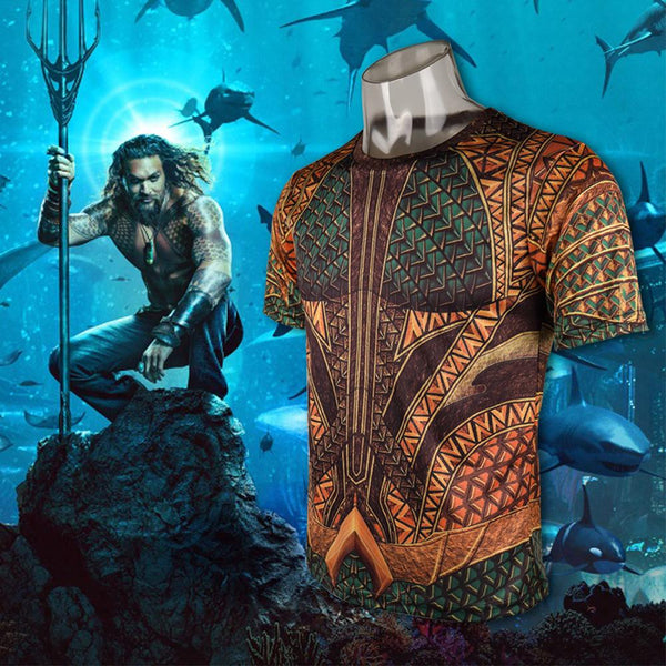 2018 Aquaman Movie T-Shirt Arthur Curry Full 3D Tee Shirt-DC Comics Cosplay-WickyDeez