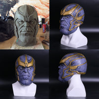 2018 Avengers: Infinity War Thanos Cosplay Helmet Mask Full Latex-Marvel Comics Cosplay-WickyDeez