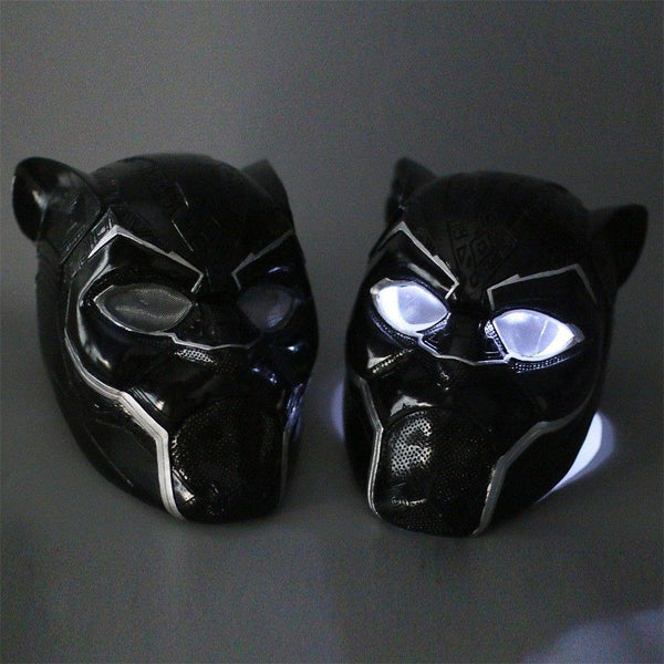 2018 Black Panther LED Helmet Mask T'Challa Cosplay Costume Prop-Marvel Comics Cosplay-WickyDeez