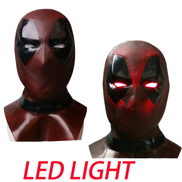 2018 Deadpool 2 LED Glowing Eye Lights Full Face Mask Cosplay Balaclava Prop-Marvel Comics Cosplay-WickyDeez