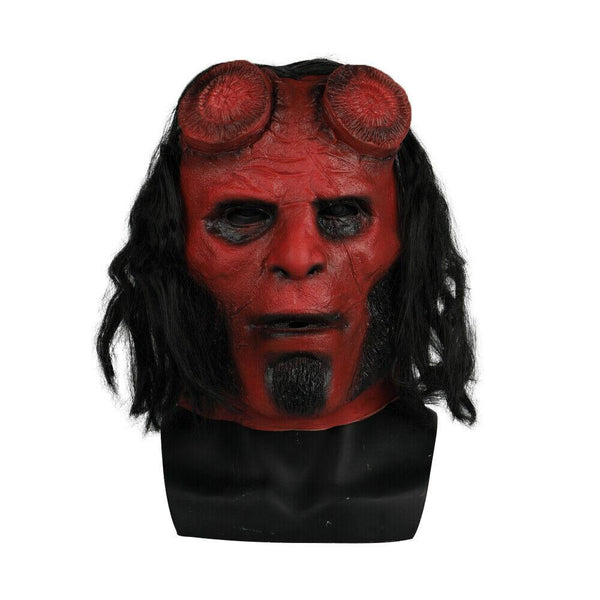 2019 Hellboy Movie Mask Cosplay Halloween Horror Red Demon Hell Boy Mask-Horror Theme-WickyDeez