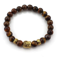 3 Natural Beaded Stone Buddha Multicolor Wristband Bracelets For Women / Men Fashion - In 18 Styles-Women's Accessories-WickyDeez