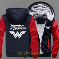 New Wonder Woman Film Hoodie Thick Coat Winter Jacket Sweatshirt-DC Comics Cosplay-WickyDeez