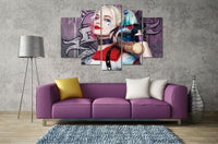 5 Pcs No Frame Harley Quinn Suicide Squad Canvas Print Art Home Decor Wall Art HD Printed Painting-DC Comics Cosplay-WickyDeez