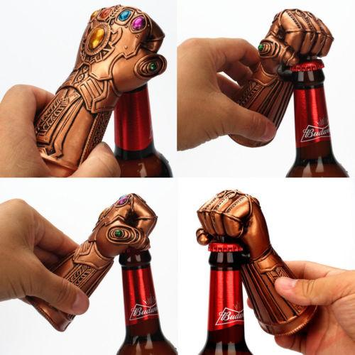 Infinity Thanos Gauntlet Glove Beer Bottle Opener Soda Glass Caps Remover Kit