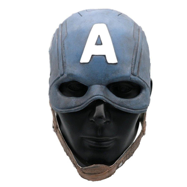 Classic Captain America Superhero Full Head Latex Mask Helmet Halloween Cosplay