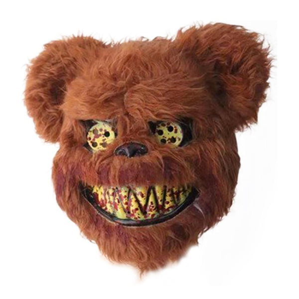 Bloody Teddy Bear Mask Scary Plush Halloween Prop Mask