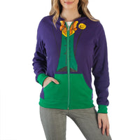 Wicked Girls Reversible Harley Quinn / Joker Hoodie Jacket-DC Comics Cosplay-WickyDeez