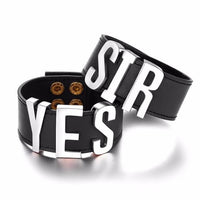 9 Styles Harley Quinn Suicide Squad YES SIR Letter Leather Prop Wristband Cosplay Bracelets-DC Comics Cosplay-WickyDeez