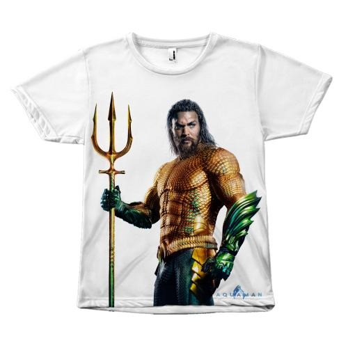 New Aquaman Movie Front Sublimation T-Shirt - Unisex Tee Shirt-DC Comics Cosplay-WickyDeez