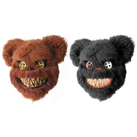 Bloody Teddy Bear Mask Scary Plush Halloween Prop Mask-Horror Theme-WickyDeez