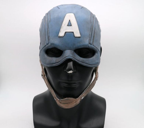 Classic Captain America Soft Latex Helmet Cosplay Halloween Mask