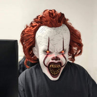 2 Versions - Stephen King's 2019 Chapter Two It Pennywise Mask Cosplay, Halloween Joker Clown Prop Mask 4D73B4739F3F490A917F657C29260BEB WickyDeez
