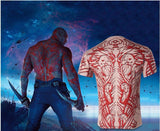 Drax The Destroyer Guardians of the Galaxy Vol 2 3D T-Shirt Cosplay Costume-Marvel Comics Cosplay-WickyDeez