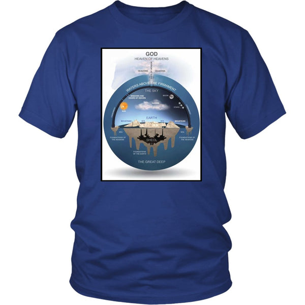 Flat Earth Shirt | Flat Earth Map | Tees Shirt | District Unisex Shirt-T-shirt-WickyDeez