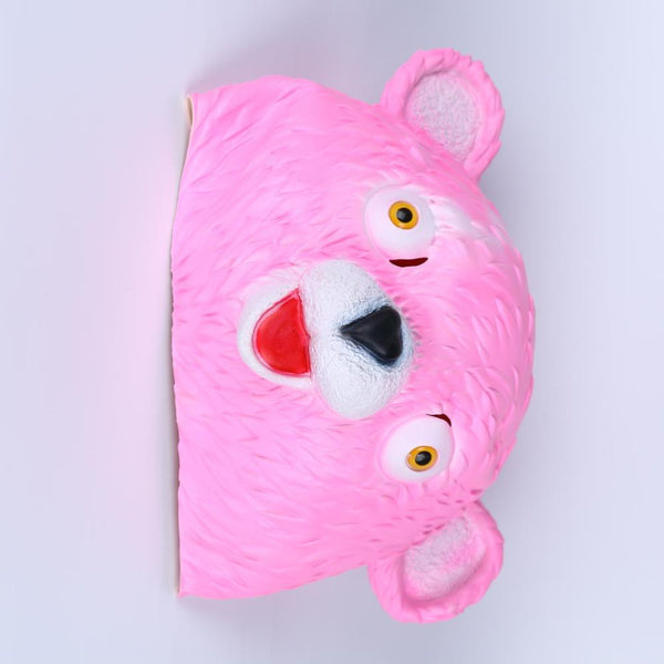 fortnite cuddle team leader mask cosplay pink bear halloween rep prop computer game cosplay - pink cuddle bear fortnite