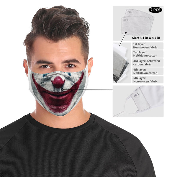 The Joker Face Mask | 2x - 50x Disposable Five Layer Filter Pads Available