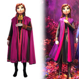 Frozen 2 Princess Anna Costume Cosplay Full Set High Quality Outfit