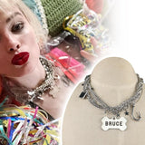 Harley Quinn Birds of Prey Necklace Earring Suicide Squad Cosplay Costume Accessories Prop