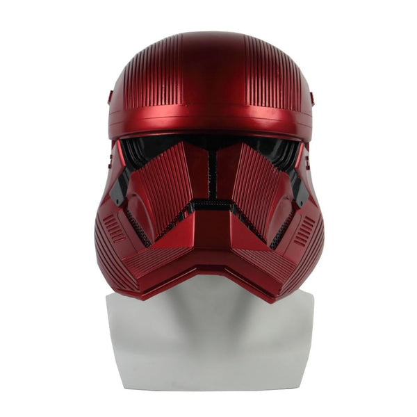 Star Wars 9 The Rise of Skywalker Sith Trooper Red Helmet Cosplay Mask Prop