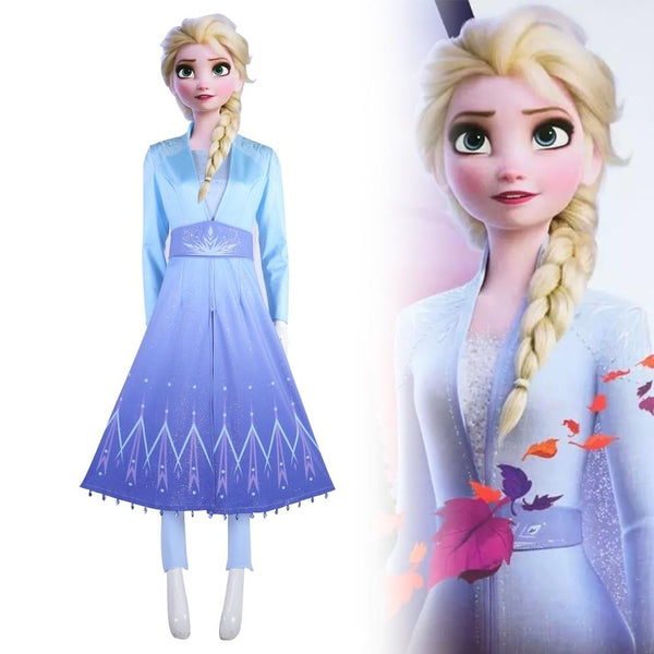 New Frozen 2 Elsa Ice Queen Cosplay Costume Dress Outfit Full Adult Set-Frozen-WickyDeez