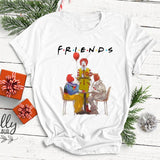 Halloween Horror Friends Tee Top | Pennywise Michael Myers Jason Voorhees Freddy Krueger Saw - WickyDeez