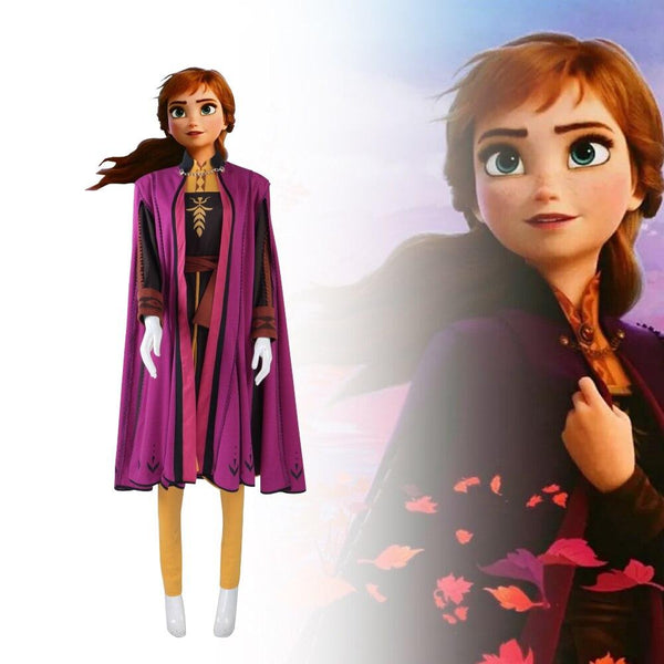 Frozen 2 Princess Anna Costume Cosplay Full Set High Quality Outfit-Frozen 2-WickyDeez
