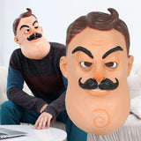 Hello Neighbor Horror Game Cosplay Mask Latex Halloween Prop-Horror Theme-WickyDeez