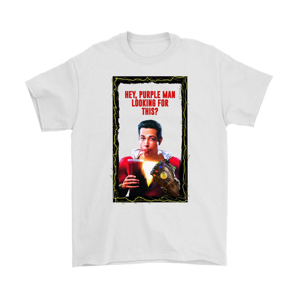 Inspired by Shazam Movie Parody Poking Fun at Thanos Mens Shirt-DC Comics Cosplay-WickyDeez