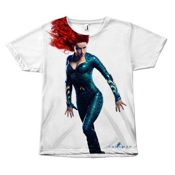 Mera Queen of the Sea Aquaman Movie Front Sublimation T-Shirt-DC Comics Cosplay-WickyDeez