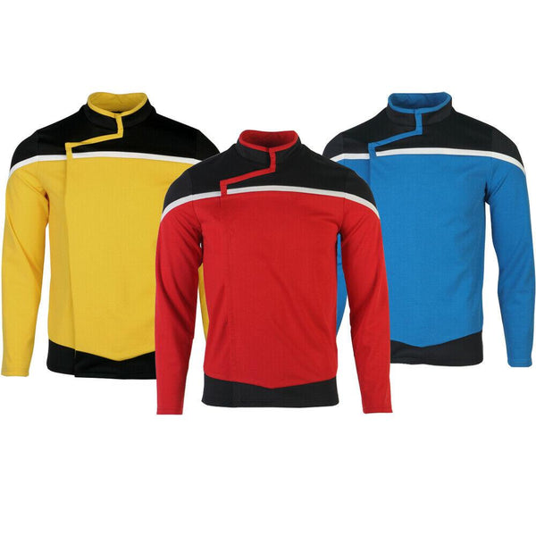 NEW-Star-Trek-Lower-Decks-Costume-Shirt-Top-Captain-Freeman-Ensign-Rutherford-Red-Yellow-Blue-Uniform-Top-WickyDeez-1