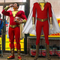 2019 Shazam Movie Custom Made Complete Shazam Cosplay Costume | With or Without Boots | or Cape Only - Free Shipping-DC Comics Cosplay-WickyDeez