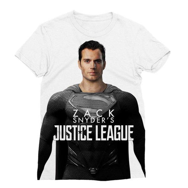NEW Women's Classic Canvas Superman in Black Suit T-Shirt | Zack Snyder's Justice League Classic Canvas Women's Tee Top - WickyDeez
