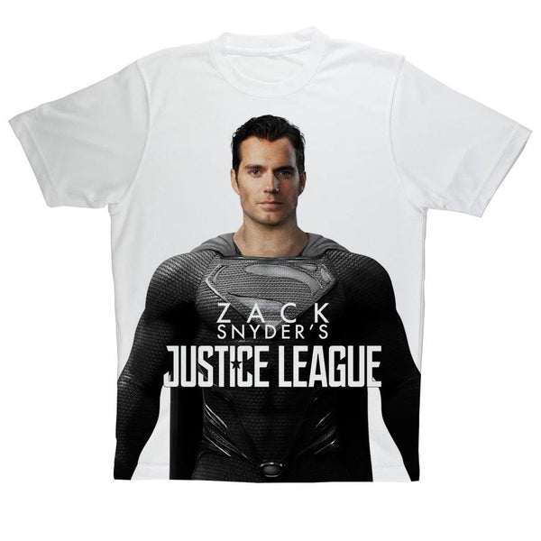 NEW Activewear Performance Superman in Black Suit Tee | Zack Snyder's Justice League Canvas Sports Top | Unisex Adult T-Shirt - WickyDeez