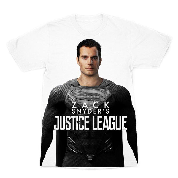 NEW Premium Canvas Superman in Black Suit Tee | Zack Snyder's Justice League Shirt Top | Unisex Adult T-Shirt - WickyDeez