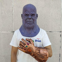 Deluxe Thanos Mask / Infinity Gauntlet Avengers Infinity War EndGame Cosplay Mask and Glove FREE SHIPPING-Marvel Comics Cosplay-WickyDeez