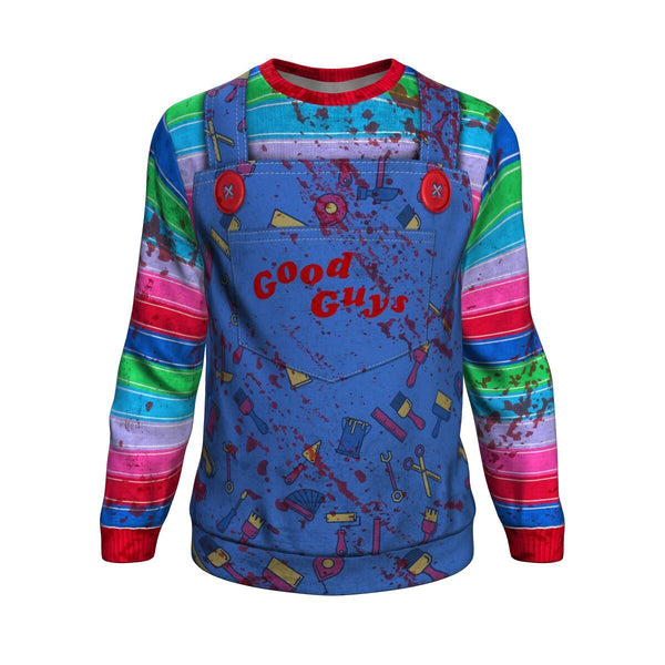 NEW Good Guys Chucky Handcrafted Premium 3D Graphic Sweatshirt Unisex Jumper-Chucky-WickyDeez
