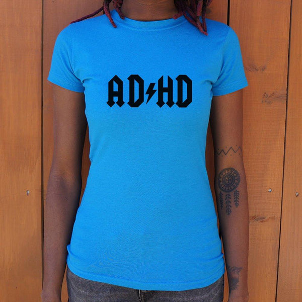 ADHD T-Shirt (Ladies)-Ladies T-Shirt-WickyDeez