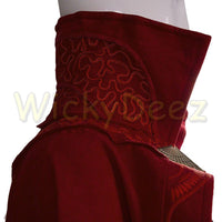 Adult Dr Strange Cloak of Levitation Doctor Strange Red Robe Cape-Marvel Comics Cosplay-WickyDeez