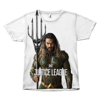 Aquaman Justice League Jason Mamoa Canvas Size - Unisex Tee Shirt-DC Comics Cosplay-WickyDeez