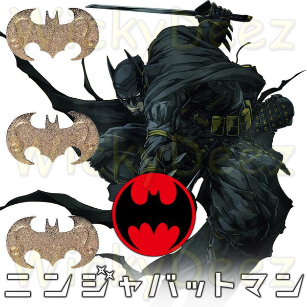 Batman Ninja Batarang Japanese Ninja Dart 2018 DC Batman Ninja Anime Movie-DC Comics Cosplay-WickyDeez