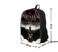 Batman Students Backpack Fashion Anime Cartoon Bag-DC Comics Cosplay-WickyDeez