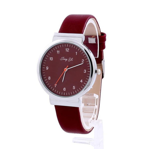 Brand New Classic Women's Roman Number Quartz Leather Wrist Watch (In 2 Colors)-Women's Accessories-WickyDeez